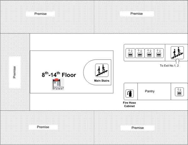 8th - 14th Floor